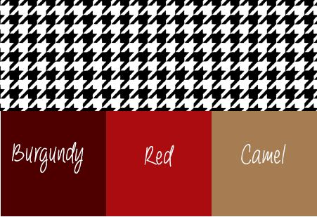 Colors that match Houndstooth